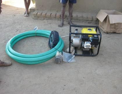 2011 Achat de 3 motos pompe pour SAKALALINA