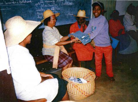 Distribution des cadeaux de noel